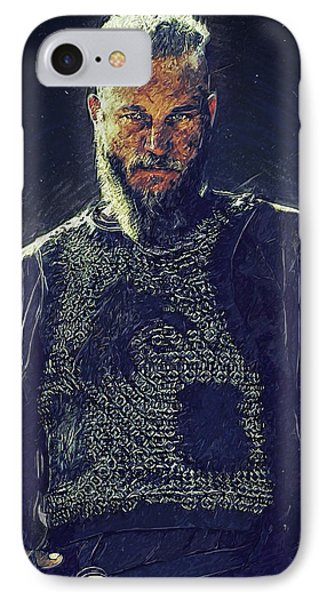 Ragnar Lothbrok IPhone Case by Semih Yurdabak