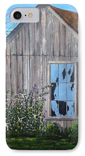 Rags, Sweet Peas And Time IPhone Case by T Fry-Green