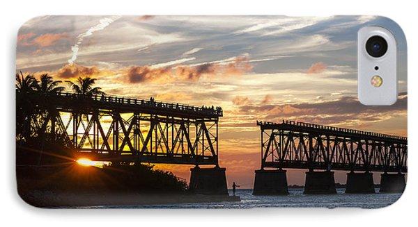 Rail Bridge At Florida Keys IPhone Case by Elena Elisseeva