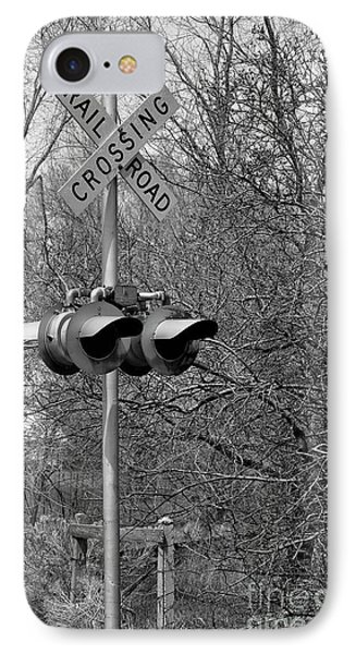 IPhone Case featuring the photograph Rail Road Crossing by Juls Adams