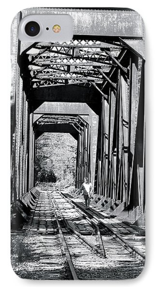 IPhone Case featuring the photograph Railroad Bridge by Robin Regan