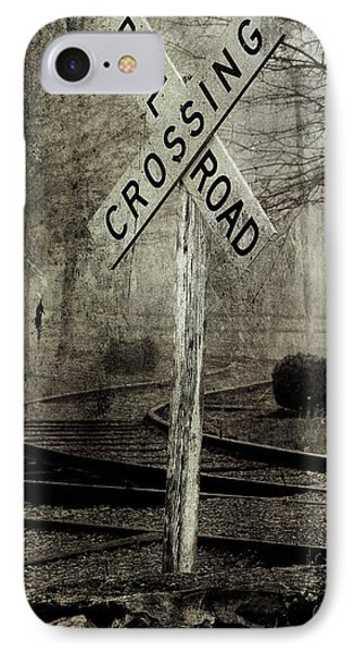 Railroad Crossing IPhone Case by Michael Eingle