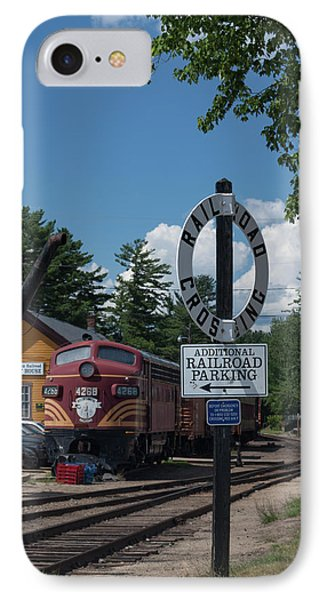 IPhone Case featuring the photograph Railroad Crossing by Suzanne Gaff