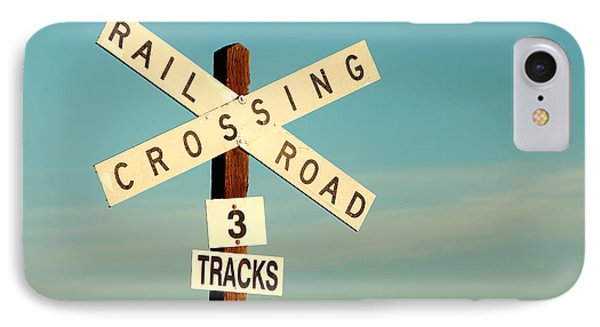 Train iPhone 7 Case - Railroad Crossing by Todd Klassy
