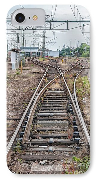IPhone Case featuring the photograph Railroad Tracks And Junctions by Antony McAulay
