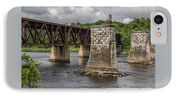 Railroad Trestle IPhone Case by Laurie Breton