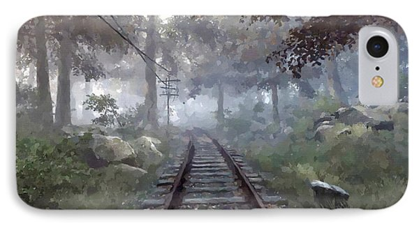 Rails To A Forgotten Place IPhone Case by Kai Saarto