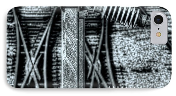 IPhone Case featuring the photograph Railway Detail by Wayne Sherriff