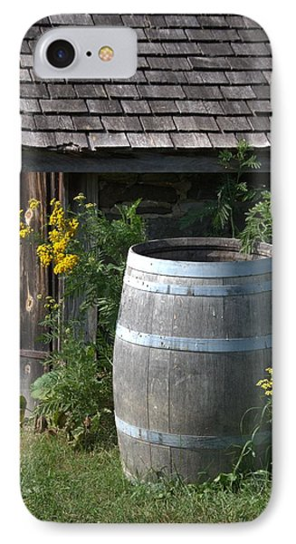 Rain Barrel IPhone Case by Valerie Kirkwood