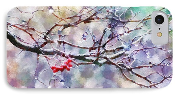 Rain Berries IPhone Case by Francesa Miller