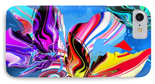 Rain Dancing Butterflies With Hummingbird IPhone Case by Abstract Angel Artist Stephen K