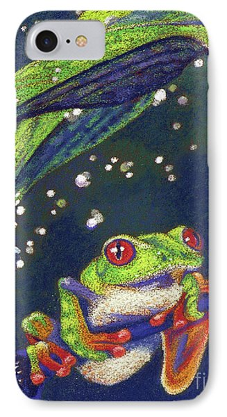 Rain Drops - Tree Frog Phone Case by Tracy L Teeter
