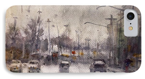 Rain In Niagara Falls Blvd IPhone Case by Ylli Haruni