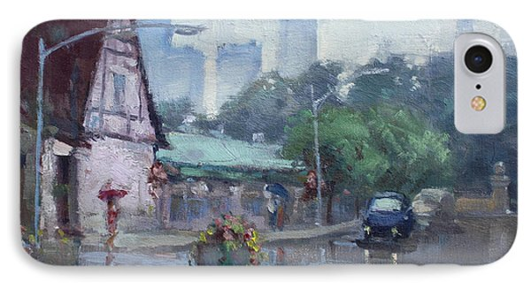 Rain In Old Falls Street IPhone Case by Ylli Haruni
