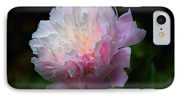 Rain-kissed Peony IPhone Case