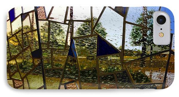 Rain On Glass Phone Case by David Lee Thompson
