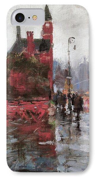 Rain On Sixth Avenue Phone Case by Peter Salwen