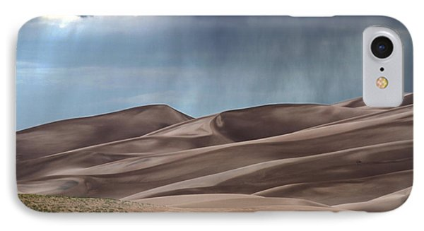 Rain On The Great Sand Dunes IPhone Case by Catherine Sherman