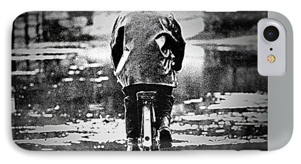 IPhone Case featuring the photograph Riding-rain Or Shine by Barbara Dudley