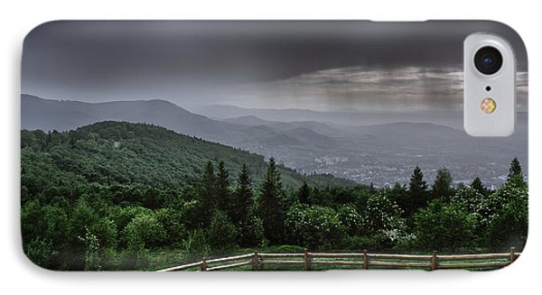 IPhone Case featuring the photograph Rain Over The Silesian Beskids by Dmytro Korol