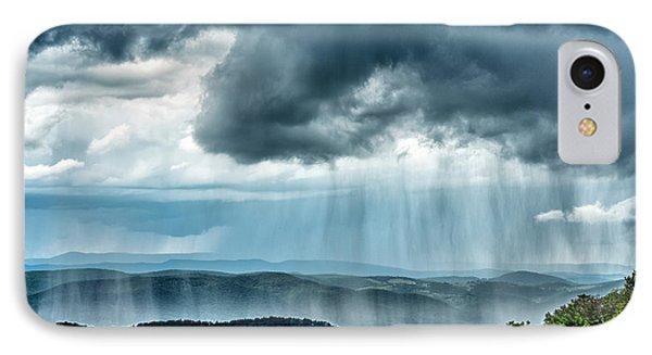 IPhone Case featuring the photograph Rain Shower Staunton Parkersburg Turnpike by Thomas R Fletcher