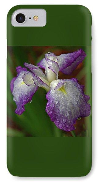 Rain-soaked Iris IPhone Case by Marie Hicks
