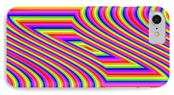 IPhone Case featuring the digital art Rainbow #5 by Barbara Tristan