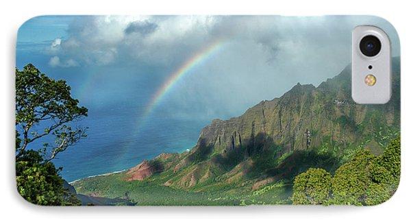 Rainbow At Kalalau Valley Phone Case by James Eddy