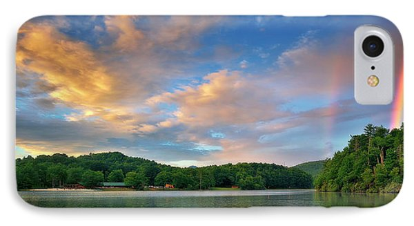 Rainbow At Linville Land Harbor IPhone Case by Steve Hurt