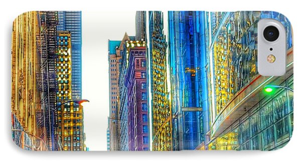 IPhone Case featuring the photograph Rainbow Cityscape by Marianne Dow