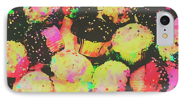 Rainbow Color Cupcakes IPhone Case by Jorgo Photography - Wall Art Gallery