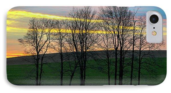 Rainbow Color Tree Horizon IPhone Case