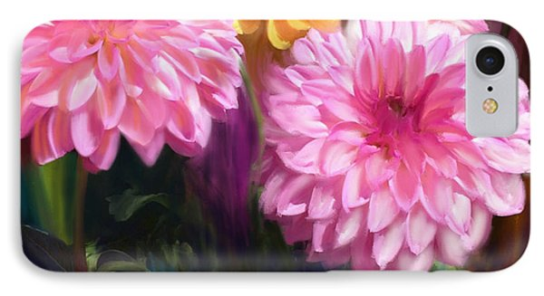 Rainbow Dahlias IPhone Case by Julianne  Ososke