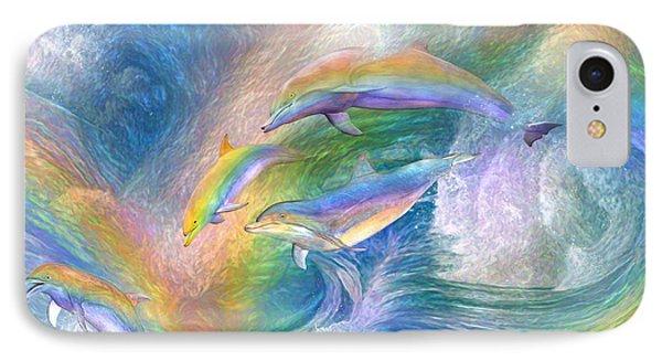 Rainbow Dolphins IPhone Case