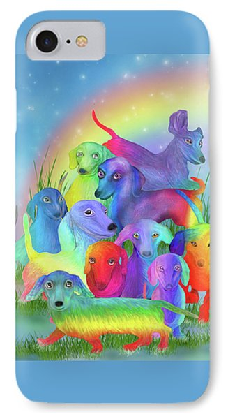 Rainbow Doxies 1 IPhone Case