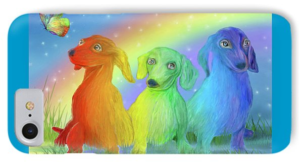 Rainbow Doxies 2 IPhone Case
