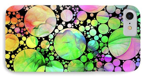 Rainbow Dreams Contemporary Art IPhone Case by Georgiana Romanovna