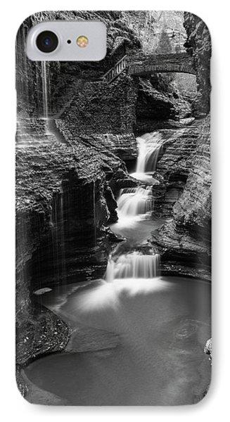 Rainbow Falls Gorge - Watkins Glen IPhone Case by Stephen Stookey