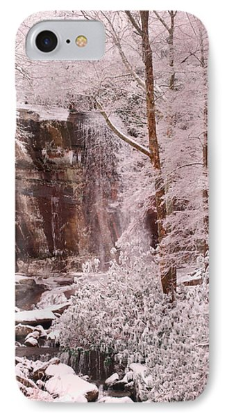 Rainbow Falls Smoky Mountain National Park -- Painted Photo. Phone Case by Christopher Gaston