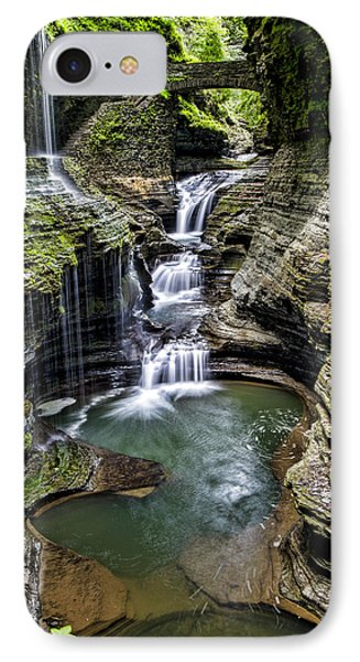 Rainbow Falls - Watkins Glen IPhone Case by Stephen Stookey