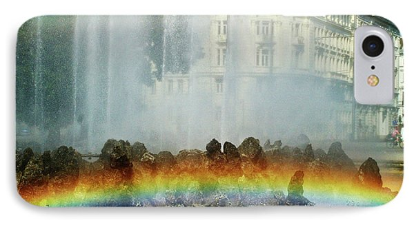 IPhone Case featuring the photograph Rainbow Fountain In Vienna by Mariola Bitner
