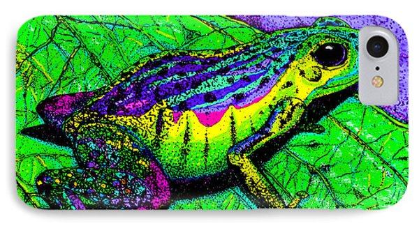 Rainbow Frog 2 Phone Case by Nick Gustafson