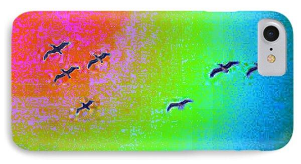 Rainbow Gulls Phone Case by Tim Allen