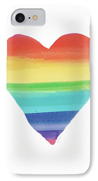 Rainbow Heart- Art By Linda Woods IPhone Case