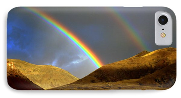 IPhone Case featuring the photograph Rainbow In Mountains by Irina Hays