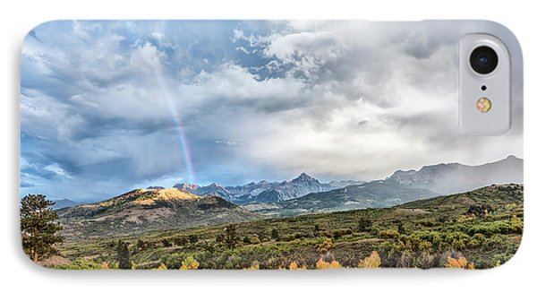 IPhone Case featuring the photograph Rainbow In The San Juan Mountains by Jon Glaser
