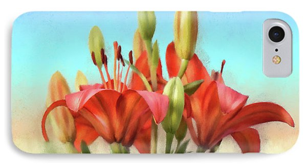 IPhone Case featuring the photograph Rainbow Lilies by Lois Bryan