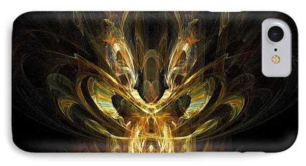 IPhone Case featuring the digital art Rainbow Locust by R Thomas Brass