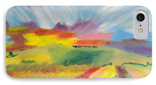 Rainbow Of Flowers IPhone Case by Meryl Goudey