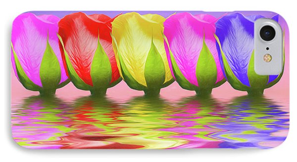 Rainbow Of Roses II IPhone Case